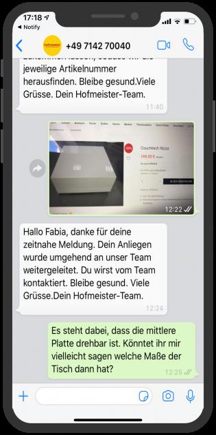 Einzelhandel-WhatsApp-Hofmeister-2