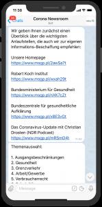 Saarland Corona Krisen bot telegram