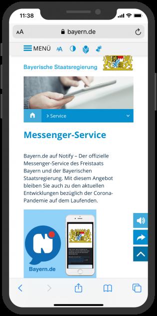 Notify Bayerische Staatsregierung
