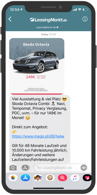 messenger-newsletter-Online-Portale-Messenger-LeasingMarkt-Apple-Business-Chat-Newsletter-1