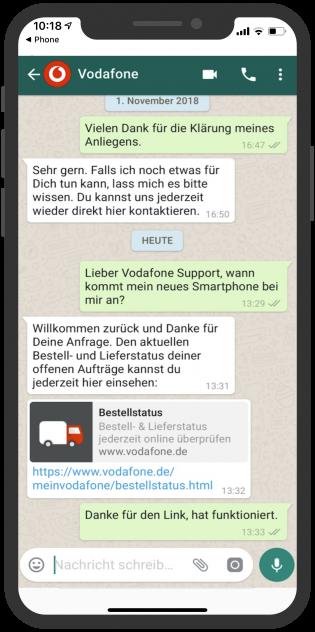 Telekommunikation-Messenger-device-vodafone-kundenservice-whatsapp