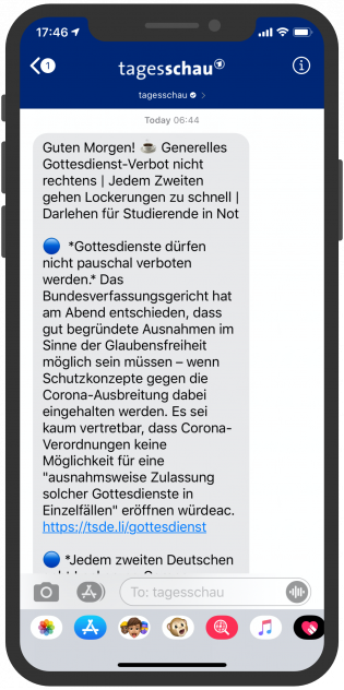 messenger-newsletter-device-tagesschau-apple-business-chat