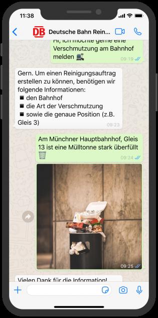 Deutsche Bahn_Sreenshot_Whatsapp Chat