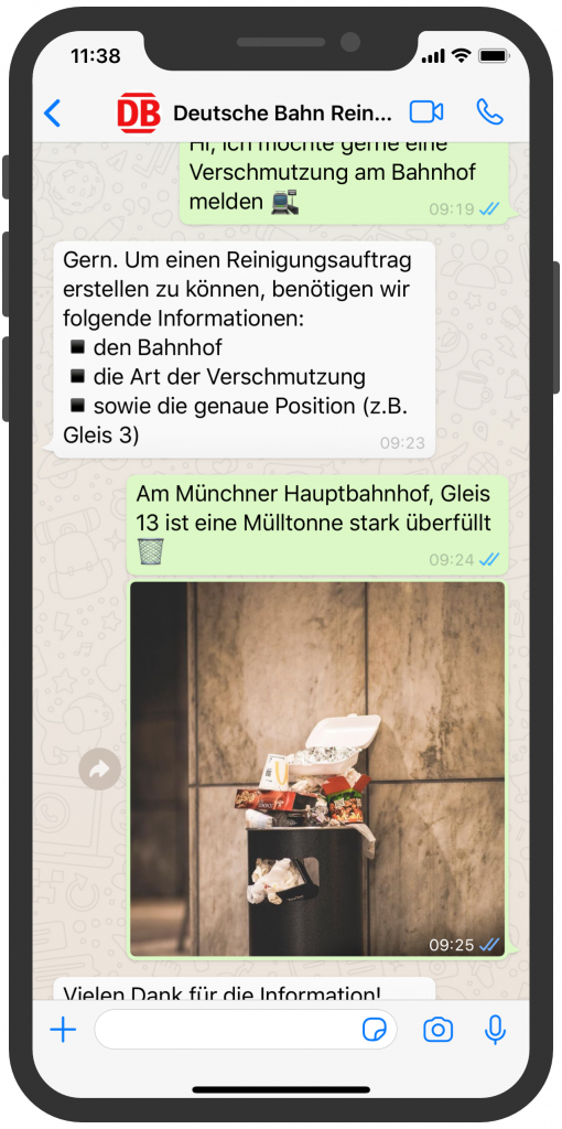 WhatsApp Screenshot device - DB