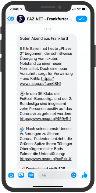 Messenger-Newsletter-Device-FAZ-Facebook-Messenger