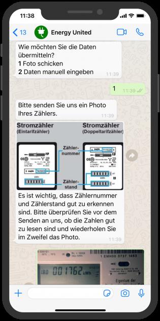 Zählerstand WhatsApp lösung