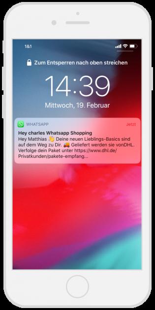 Hey Charles WhatsApp Notification