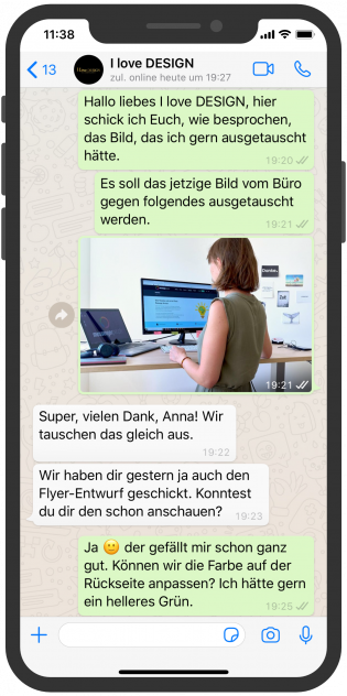 i-love-design_whatsapp_serivice_marketing_agentur