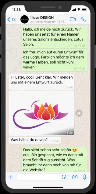 i-love-design_whatsapp_service_Dienstleistung