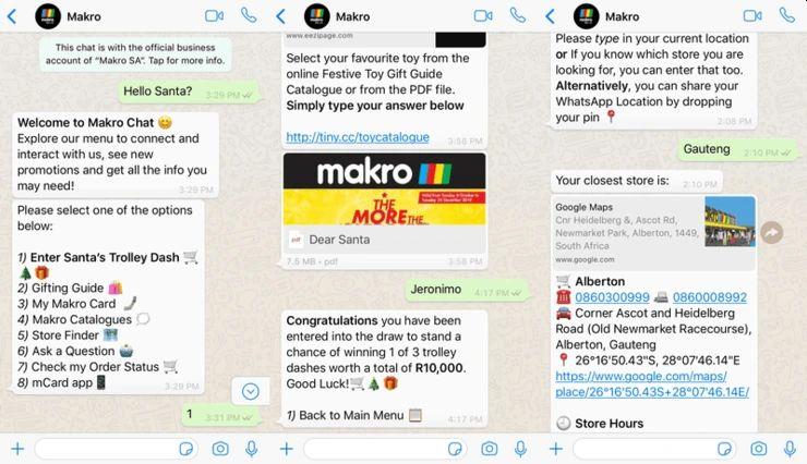 Makro Santa WhatsApp Weihnachtskampagne Gewinnspiel