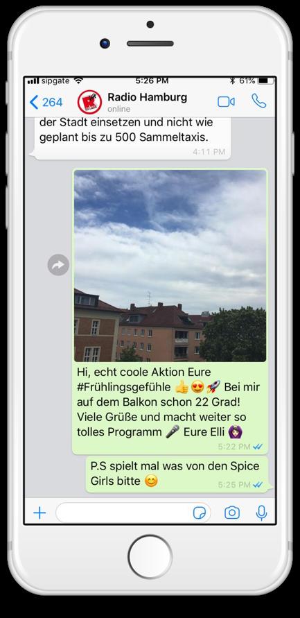 Radio Hamburg WhatsApp