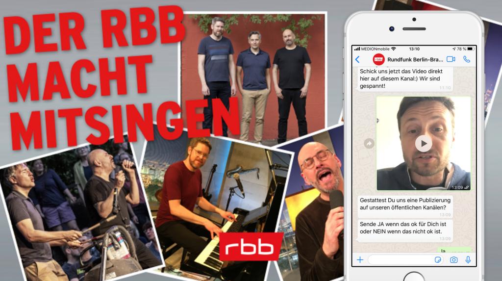 rbb whatsapp Mitsingen - Die Aktion gemeinsam mit Sing dela Sing