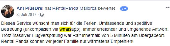 Rental Panda Service WhatsApp super
