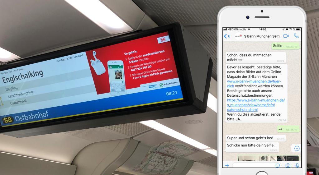 S-Bahn München: Selfies per WhatsApp schicken und gewinnen!