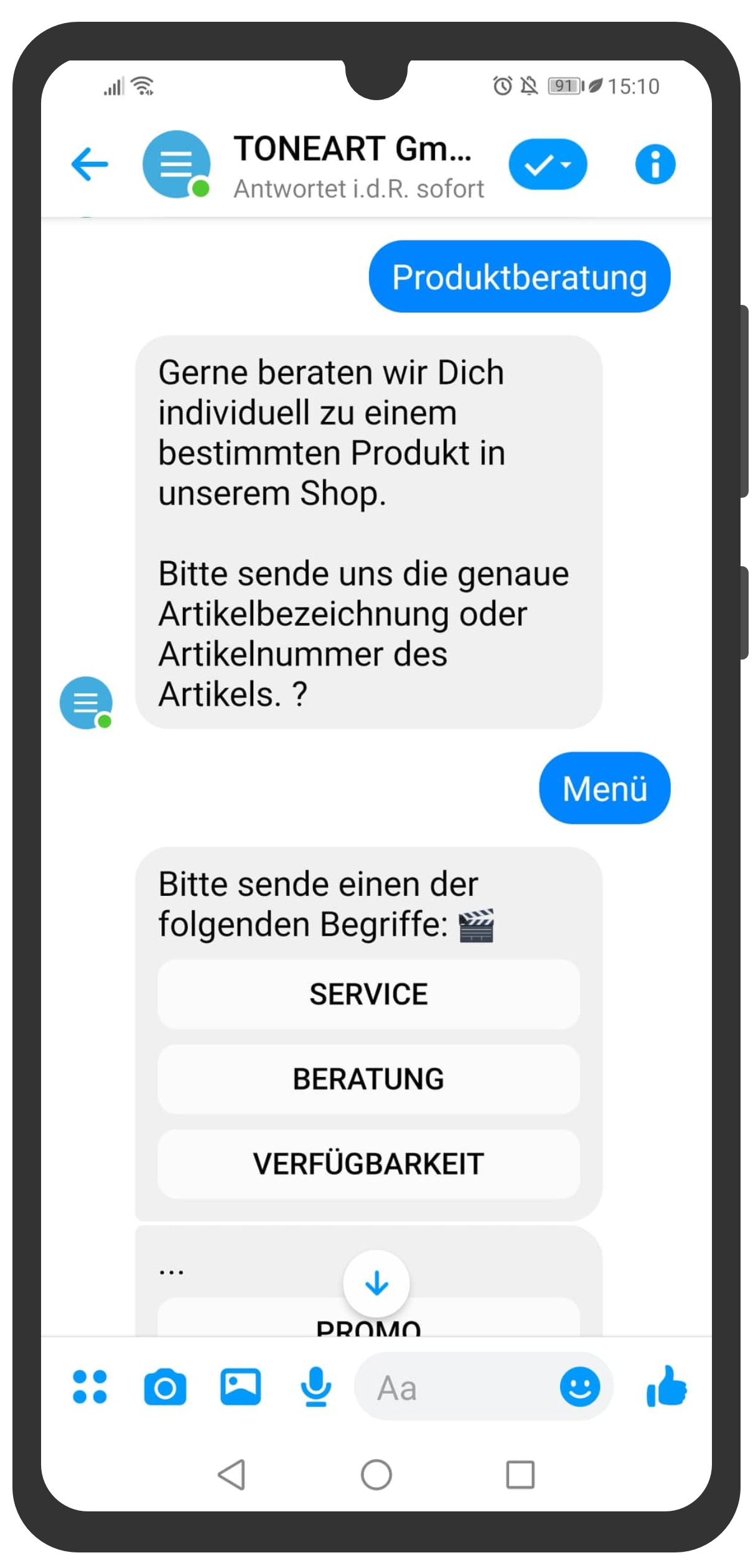 Toneart gmbh chatbot