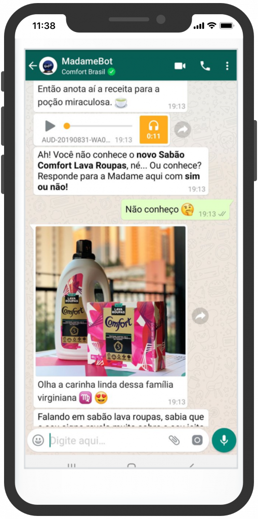 madamebot unilever whatsapp Messenger Marketing
