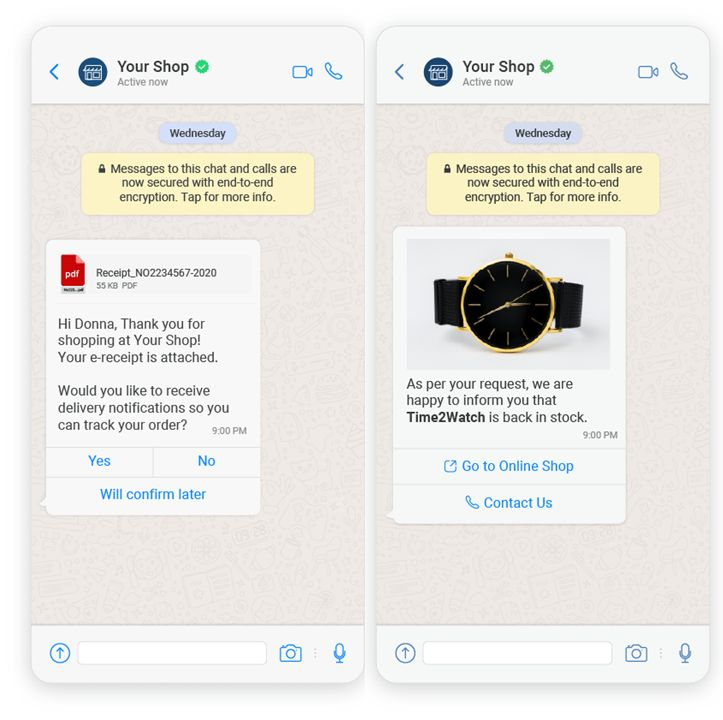 WhatsApp Business Buttons Update