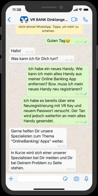 VR BANK_Kundensreenshot_WhatsApp Chat
