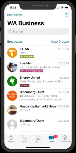 WhatsApp Business APP Labels
