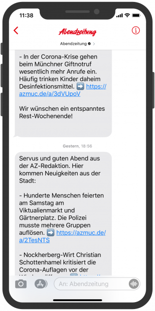 abendzeitung-apple-business-chat-newsletter