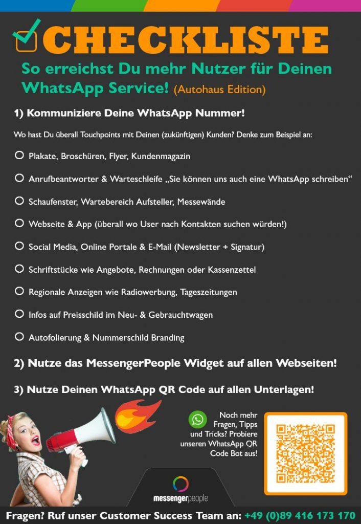 Checkliste Mehr Nutzer - Autohaus - Grafik