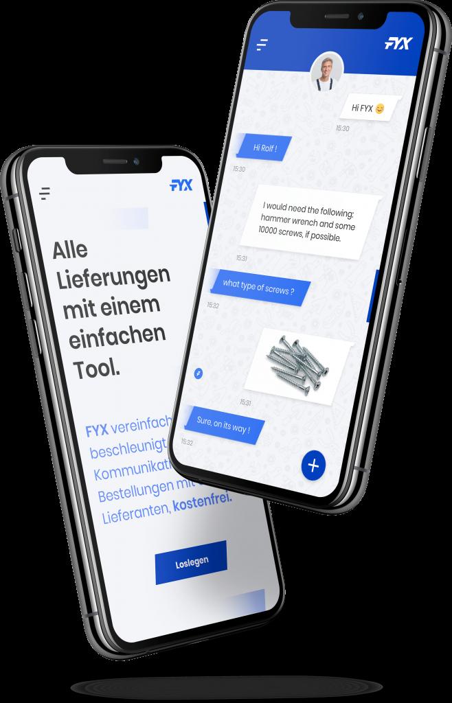 Fyx App Messenger für Handwerker
