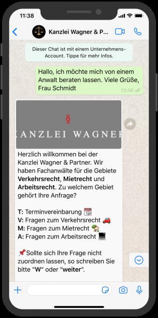 Chatbot für Rechtsanwälte