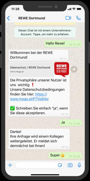 WhatsApp Screenshot device - REWE