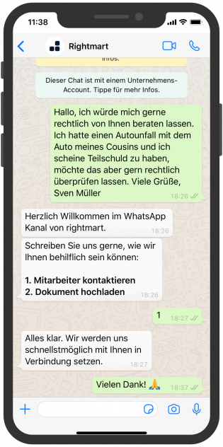 Atornix Kanzlei WhatsApp Chatbot