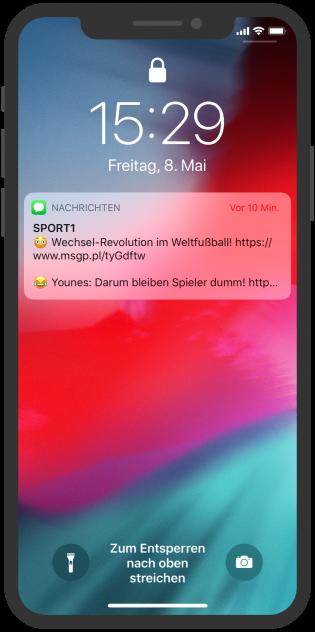 sport1 news push