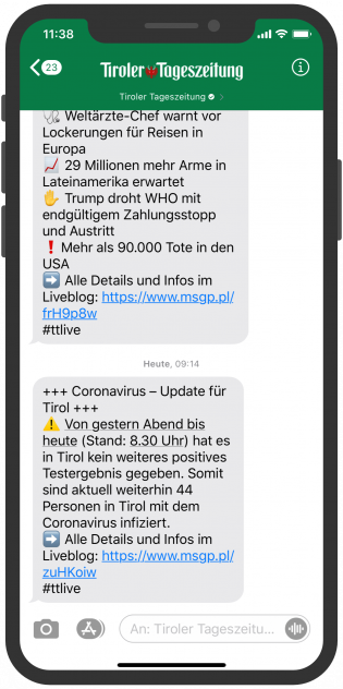 tiroler-tageszeitung-apple-buisness-chat-newsletter