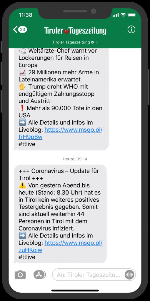 tiroler-tageszeitung-apple-buisness-chat-newsletter