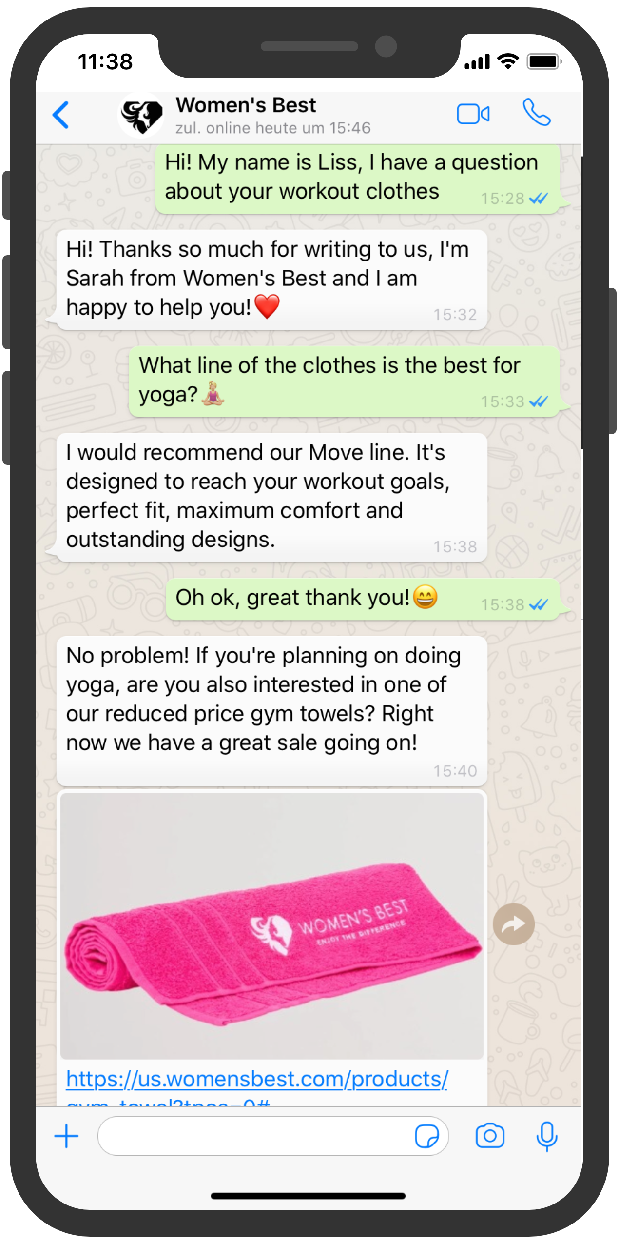 Womens Best customer service chat whatsapp