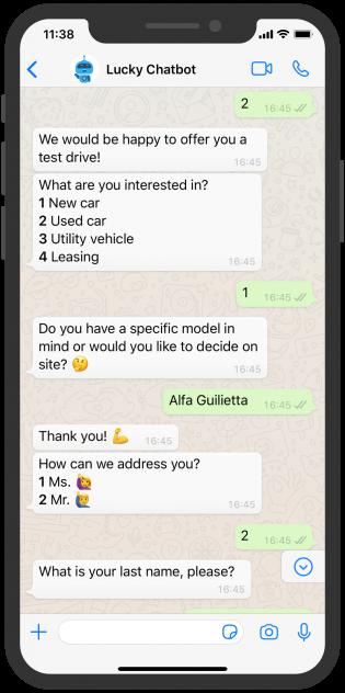 Lucky_English_Chatbot_Car Dealership_2