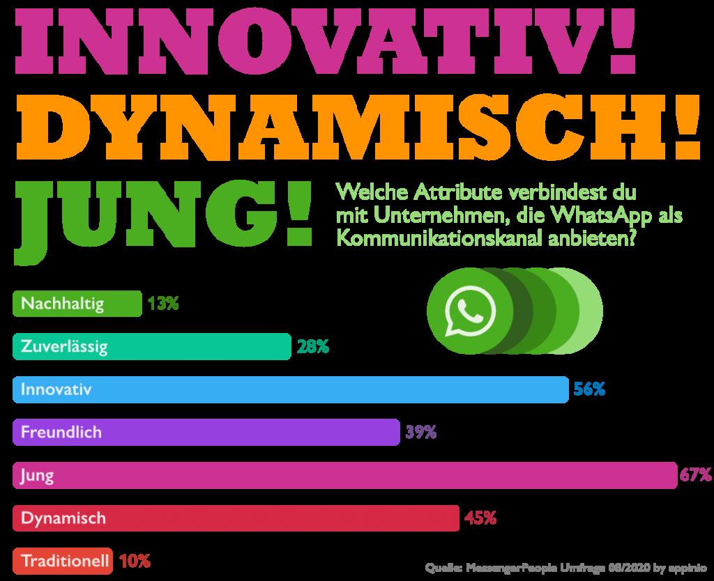 WhatsApp Appinio Statistik jung dynamisch innovativ kampagne
