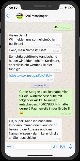WhatsApp Screenshot device, FAIE