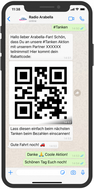 WhatsApp Screenshot device, Radio Arabella