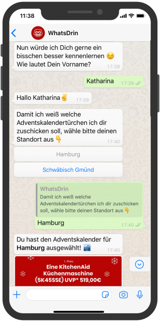 WhatsApp Weihnachts-Chatbot Willi