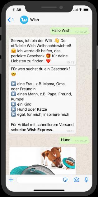 Shopping WhatsApp Chatbot Willi