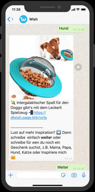 Shopping WhatsApp Chatbot Wish