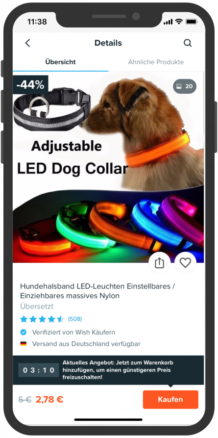 Wish App Bot Hund
