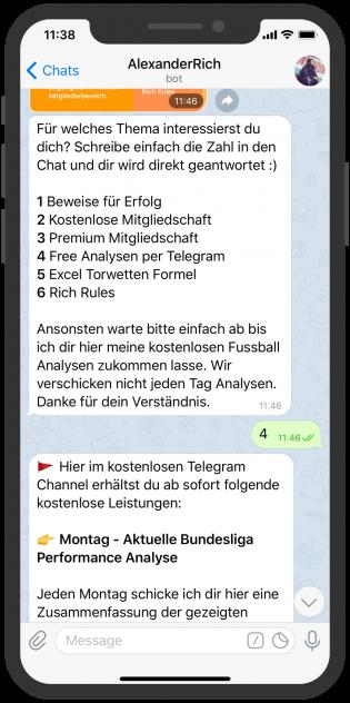 Alexander Rich Fußball Prognosen Coach Telegram Bot
