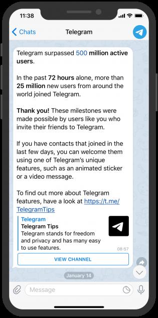 Telegram Screenshot device