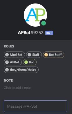 Chatbot, AP Students, Discord
