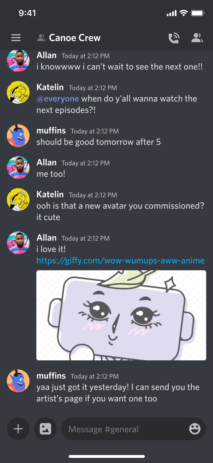 Chat Discord, Instant Messaging