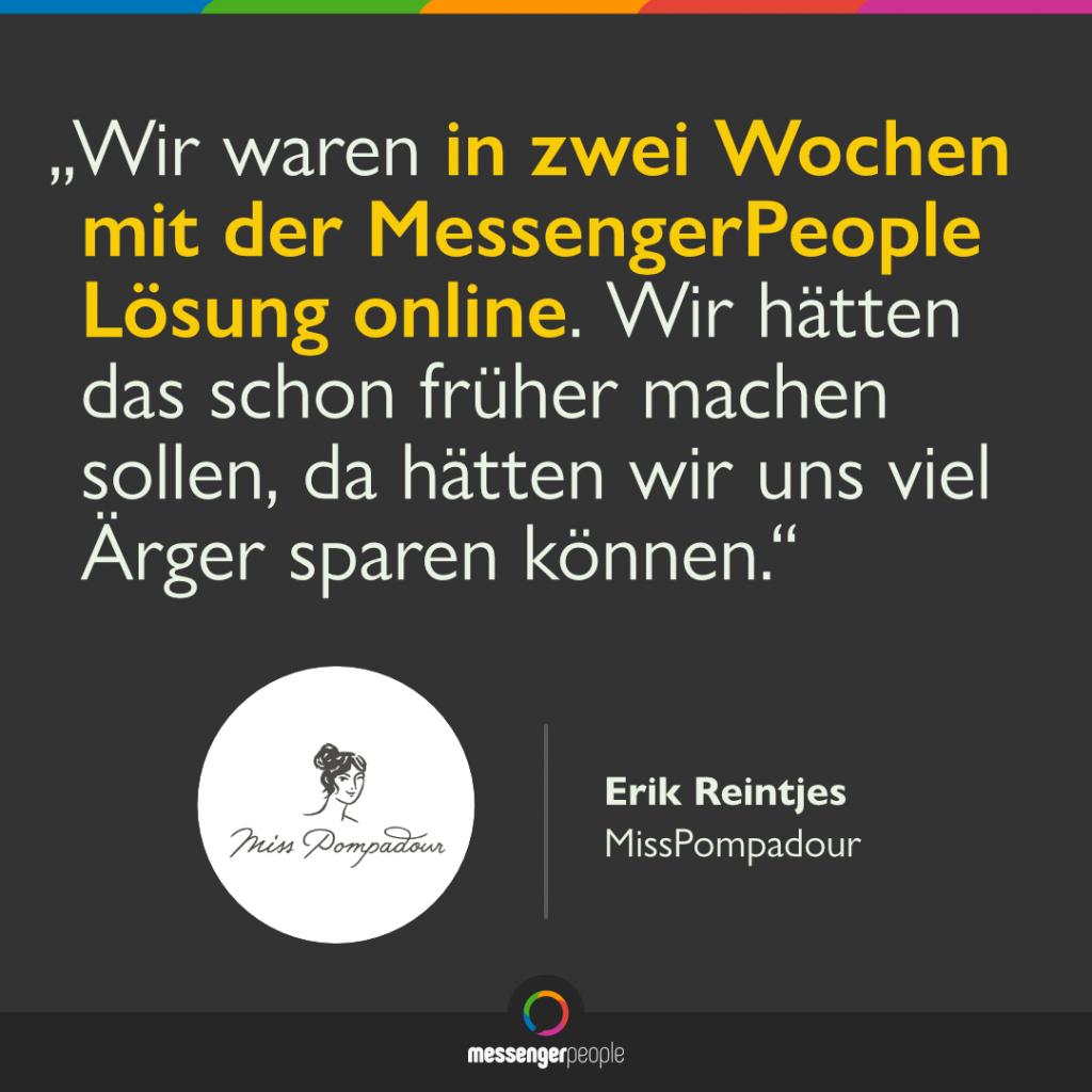 WhatsApp Software MissPompadour MessengerPeople