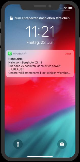 hotel-zirm-whatsapp-notification-anreise