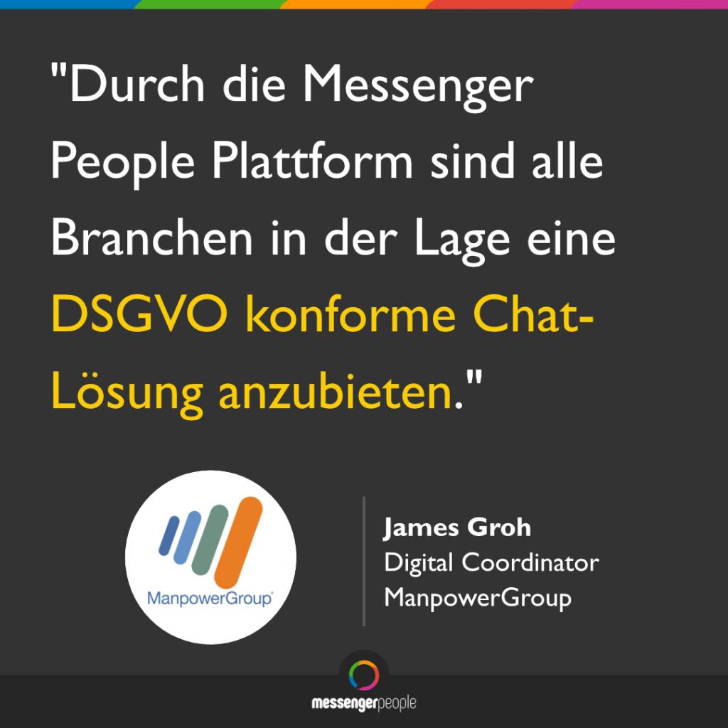 MessengerPeople DSGVO konform