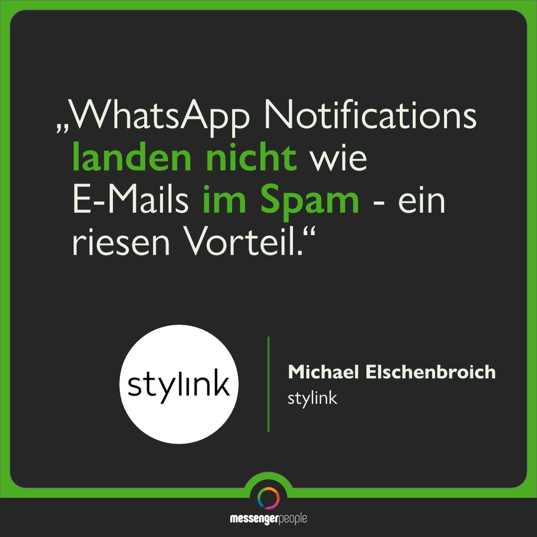 WhatsApp Notifications landen nicht im Spam