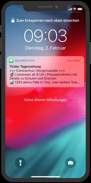 tiroler-tageszeitung-apple-business-chat-messenger-service-newsletter-notification